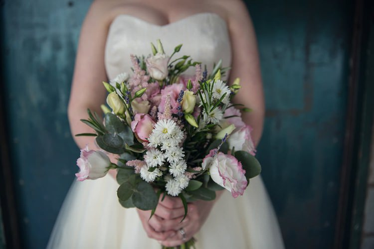 Pink White Bouquet Bride Bridal Flowers Eclectic Cool Barn Wedding http://assassynation.co.uk/