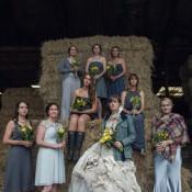 DIY Yellow & Grey Rustic Farm Wedding