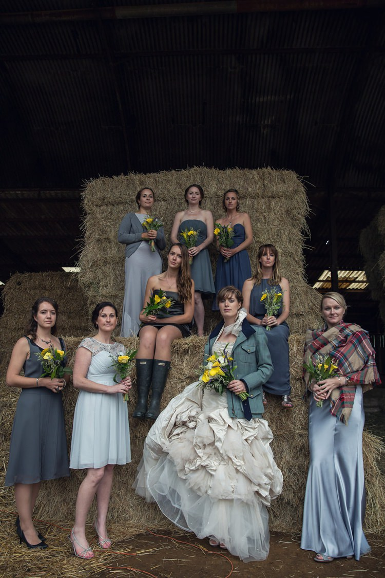 Yellow Grey Rustic Farm Wedding http://assassynation.co.uk/