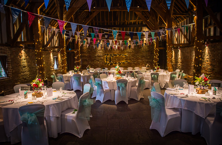 Barn Bunting Fairylights Quirky Crafty Tea Infused Wedding http://jamesgristphotography.co.uk/