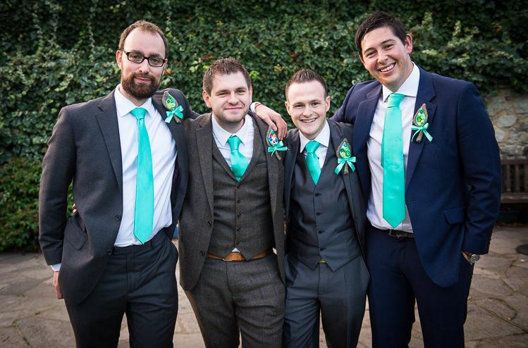 Green Tie Groomsmen Quirky Crafty Tea Infused Wedding http://jamesgristphotography.co.uk/