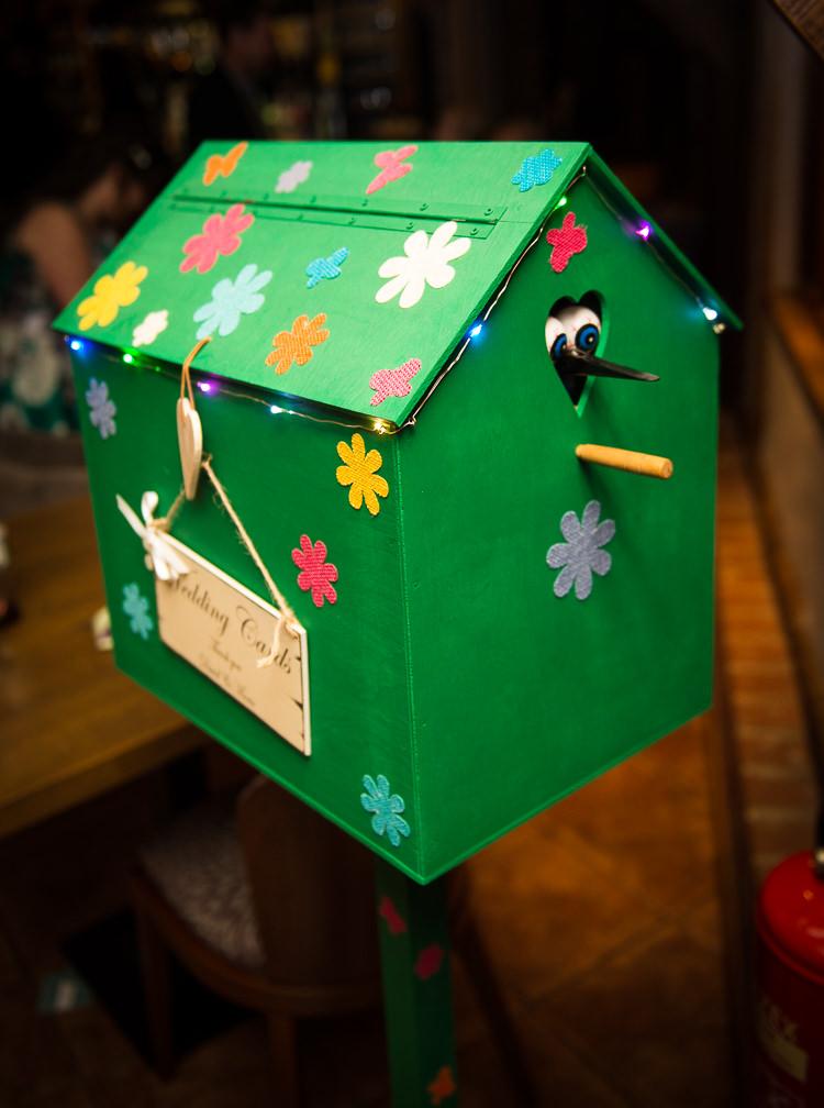 Birdbox Card Holder Quirky Crafty Tea Infused Wedding http://jamesgristphotography.co.uk/