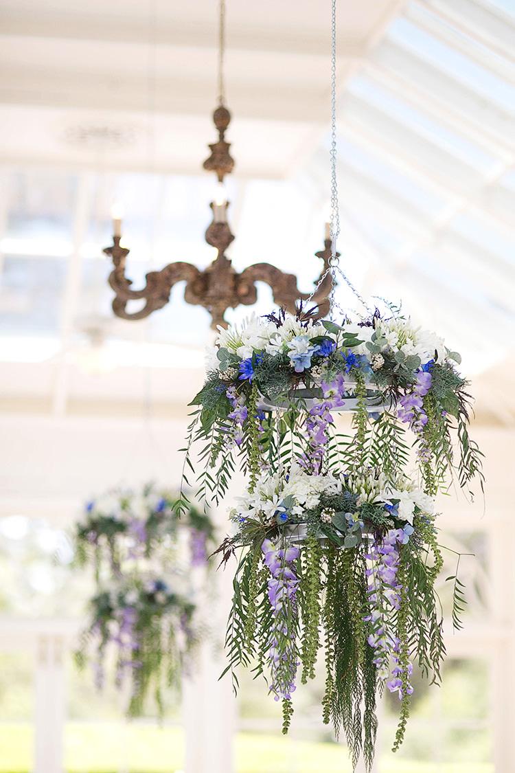 Hanging Flowers Arrangements Cornflower Blue Garden Wedding Australia http://brischetto.net/