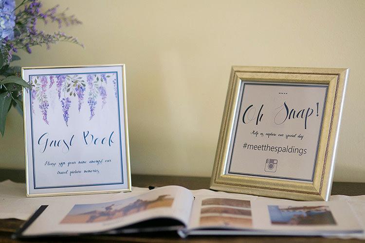 Guest Book Frames Cornflower Blue Garden Wedding Australia http://brischetto.net/