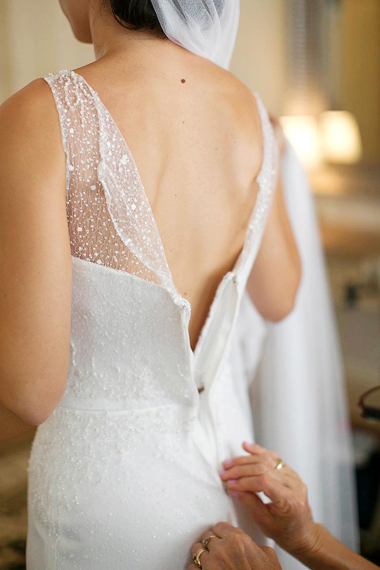 Beaded Dress Bride Bridal Back Low Sheer Cornflower Blue Garden Wedding Australia http://brischetto.net/