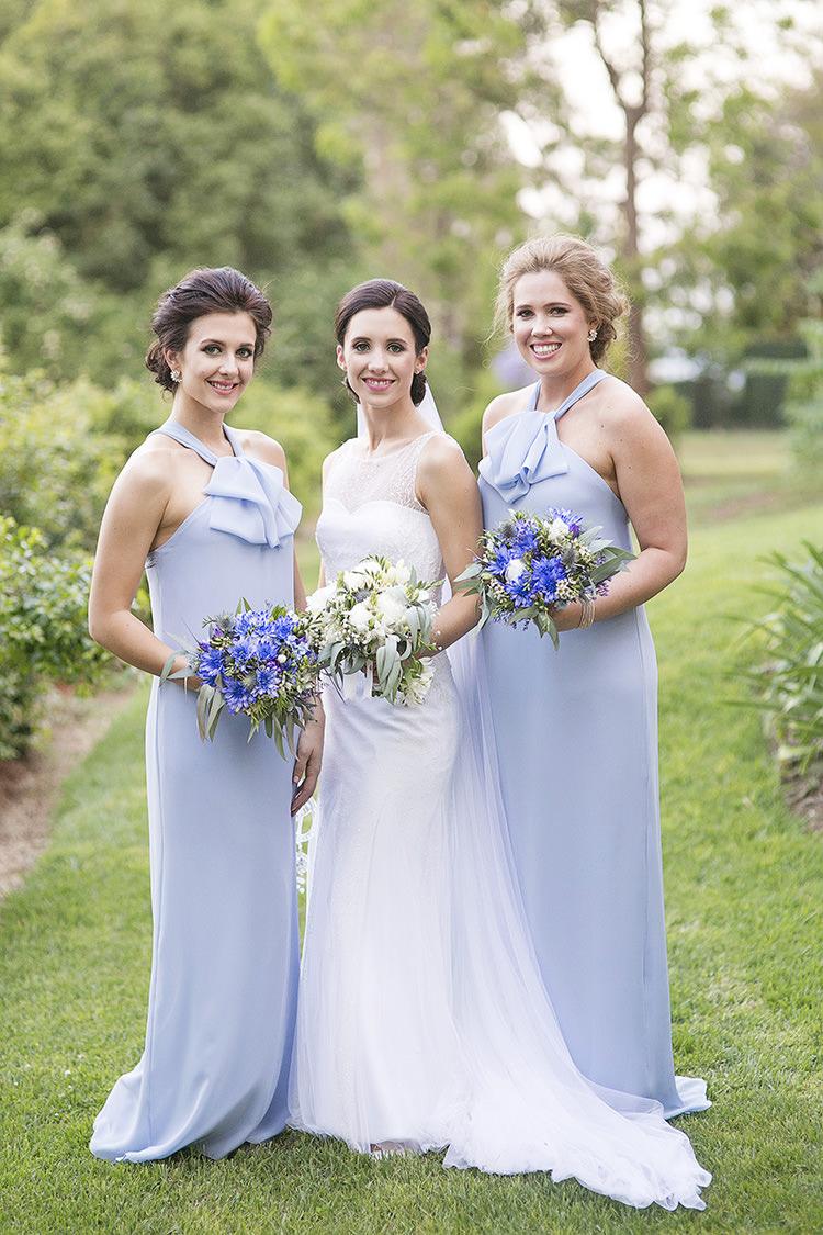 Long Halterneck Bridesmaid Dresses Cornflower Blue Garden Wedding Australia http://brischetto.net/