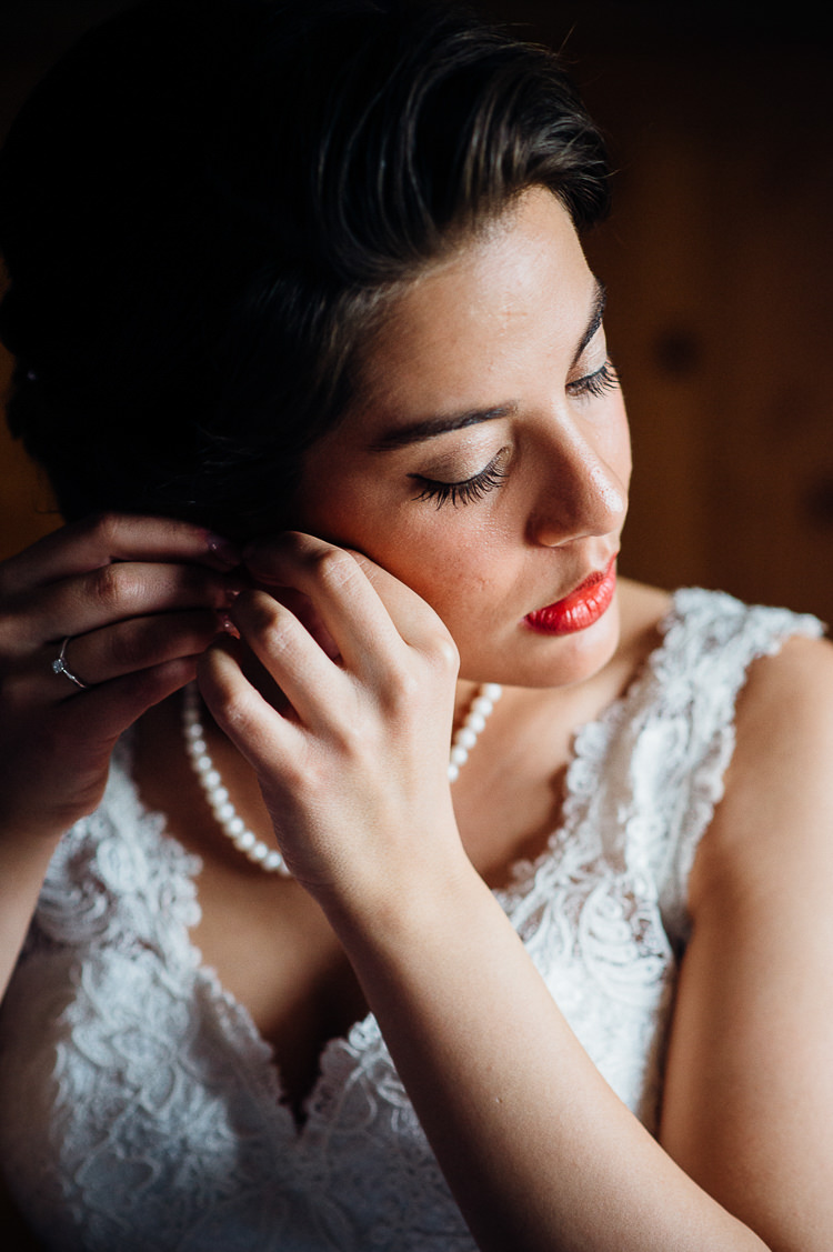 Make Up Bride Bridal Red Lips Books & History Sparkly Pastels Wedding http://www.mariannechua.com/
