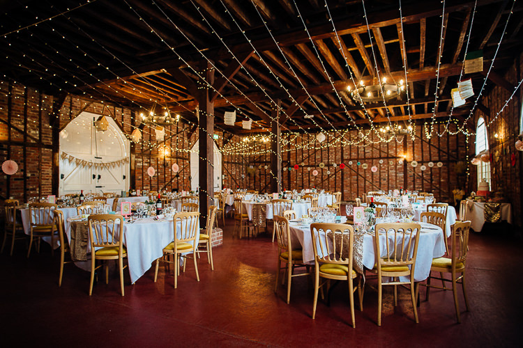 Fairy Lights Barn Books & History Sparkly Pastels Wedding Marks Hall Coach House  http://www.mariannechua.com/