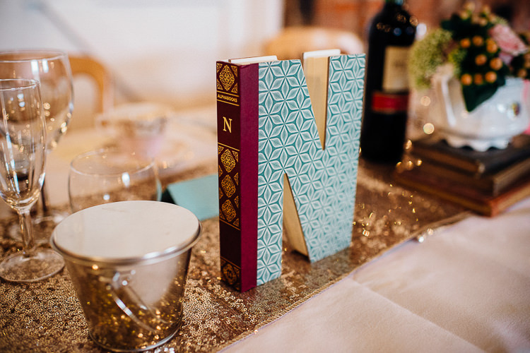 Sequin Runner Table Cloth Books & History Sparkly Pastels Wedding http://www.mariannechua.com/
