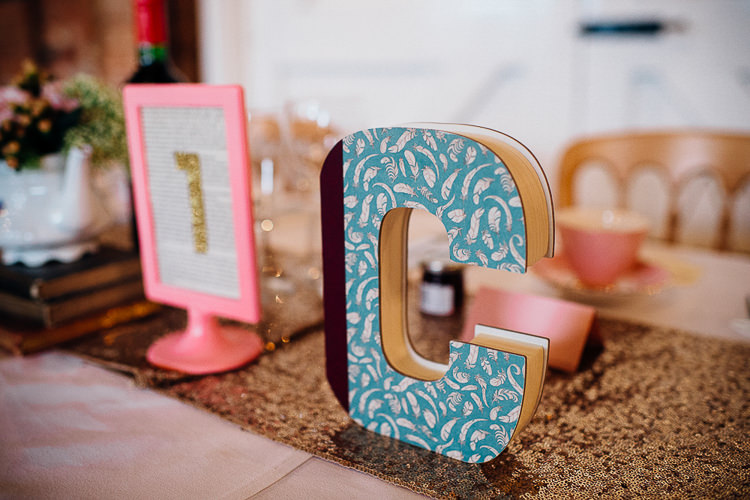 Letters Books & History Sparkly Pastels Wedding http://www.mariannechua.com/