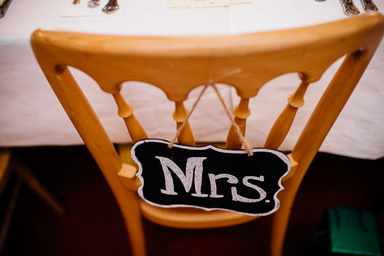 MRS Chair Sign Black Chalk Board Books & History Sparkly Pastels Wedding http://www.mariannechua.com/
