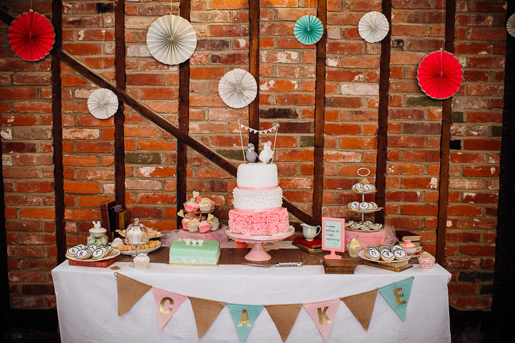 Cake Dessert Table Books & History Sparkly Pastels Wedding http://www.mariannechua.com/
