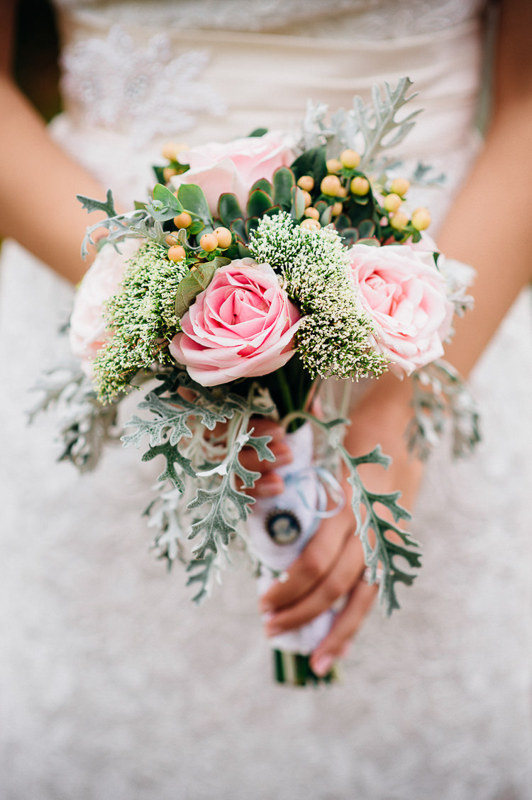 Bouquet Pink Rose Flowers Bride Bridal Books & History Sparkly Pastels Wedding http://www.mariannechua.com/