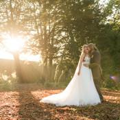 Glamorous Gold Halloween Wedding