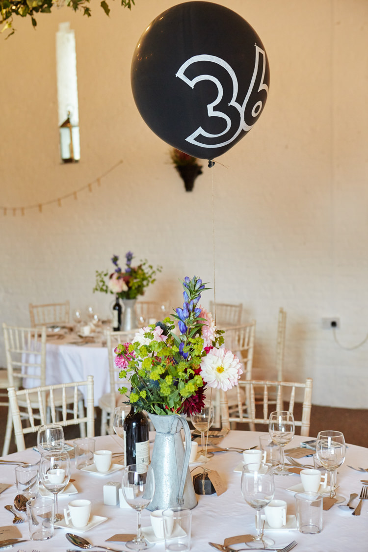 Black Chalk Board Balloons Table Numbers Industrial Country Rustic Wedding https://www.fullerphotographyweddings.co.uk/