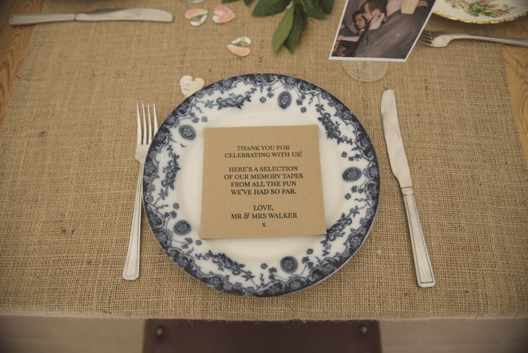 Place Setting Kraft Brown Paper Stationer Quirky DIY House Party Wedding http://www.petecranston.com/