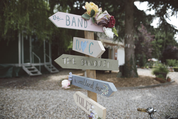 Painted Wooden Sign Post Pastel Quirky DIY House Party Wedding http://www.petecranston.com/