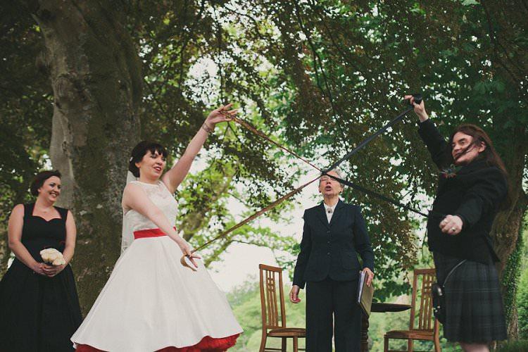 Outdoor Ceremony Scotland Quirky Alternative Lochside Wedding Http Www Maureendupreez