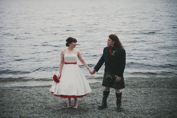 Quirky Alternative Lochside Wedding http://www.maureendupreez.com/
