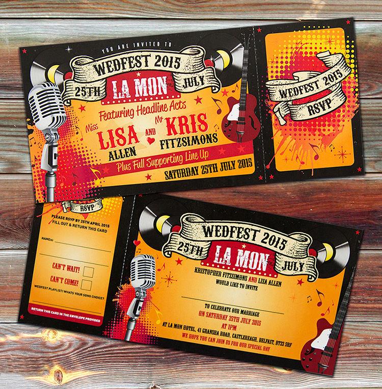 WEDFEST Alternative Festival Wedding Stationery & Invitations ...