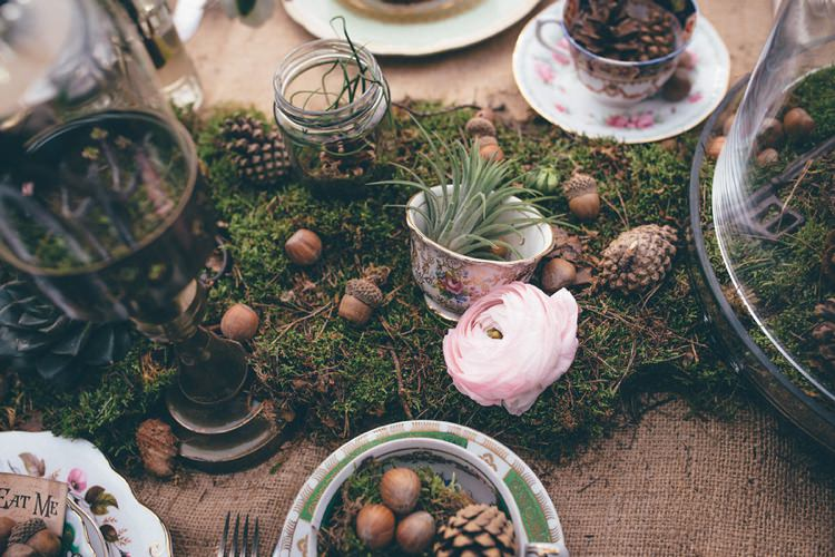 Tables Rustic Moss Decor Hessian Burlap Natural Festival Tipi Wedding Ideas http://www.katemccarthyphotography.co.uk/