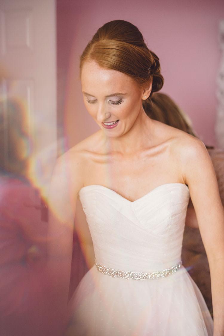 Stephanie Allin Gown Bride Bridal Dress Strapless Sweetheart Romantic Pretty Pink Wedding http://marcsmithphotography.com/