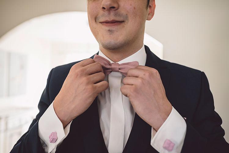 Bow Tie Groom Romantic Pretty Pink Wedding http://marcsmithphotography.com/