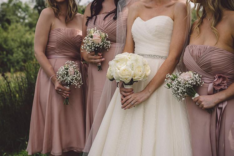 Dusky Bridesmaid Dresses Bouquets White Romantic Pretty Pink Wedding http://marcsmithphotography.com/