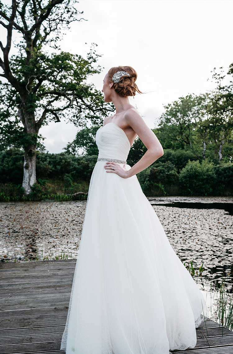 Stephanie Allin Bride Bridal Dress Gown Dotty Tulle Strapless Romantic Pretty Pink Wedding http://marcsmithphotography.com/
