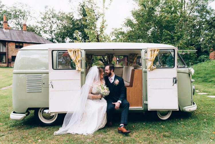 VW Camper Vintage Country Fete Farm Wedding http://carolinehancox.co.uk/