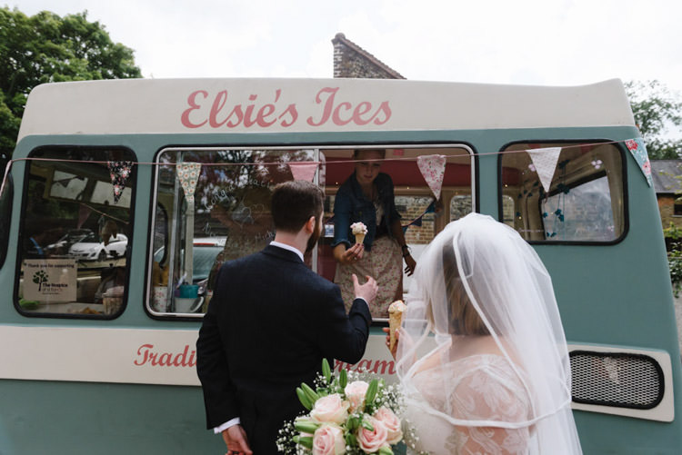 Ice Cream Van Vintage Country Fete Farm Wedding http://carolinehancox.co.uk/