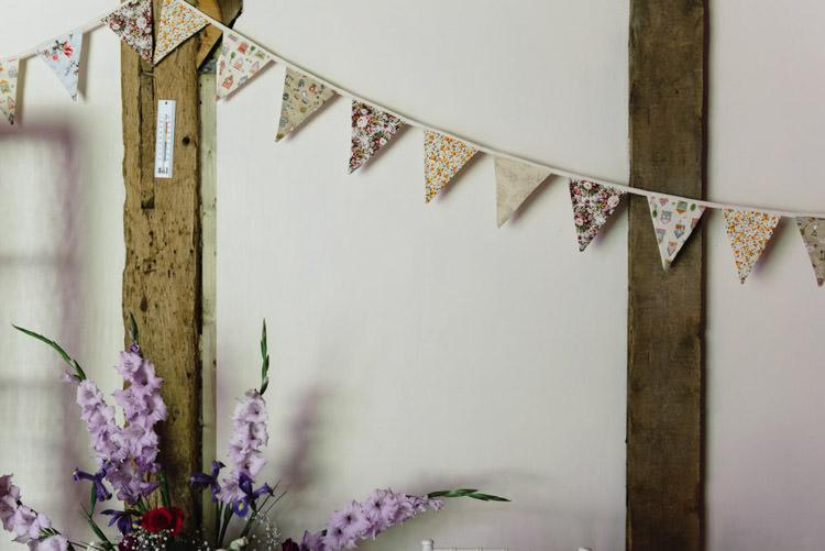 Bunting Vintage Country Fete Farm Wedding http://carolinehancox.co.uk/