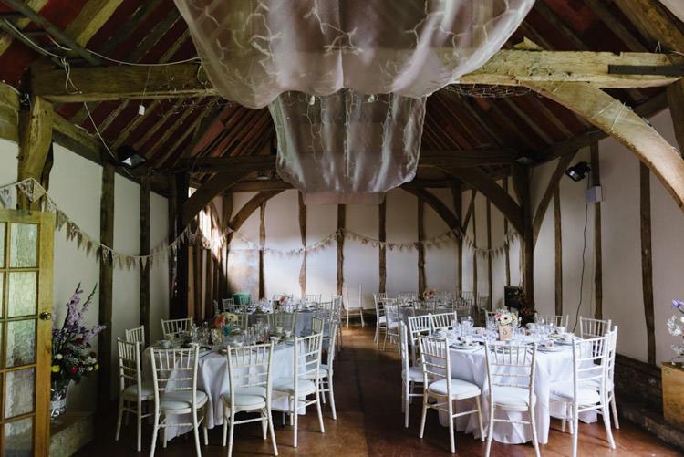Barn Loudwater Drapes Lights Vintage Country Fete Farm Wedding http://carolinehancox.co.uk/