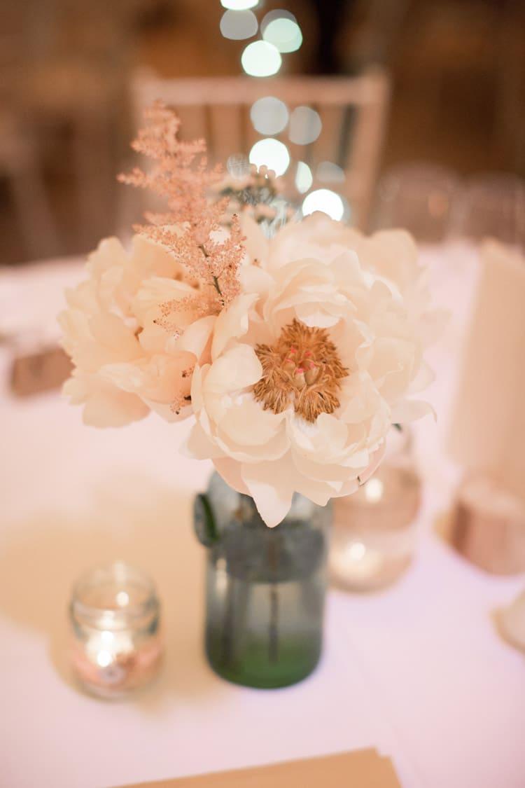 Peony Peonies Flowers Table Centrepiece Family Farm Festival Wedding https://amylouphotography.co.uk/