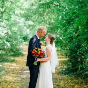 Orange & Blue Festival Fete Tipi Wedding
