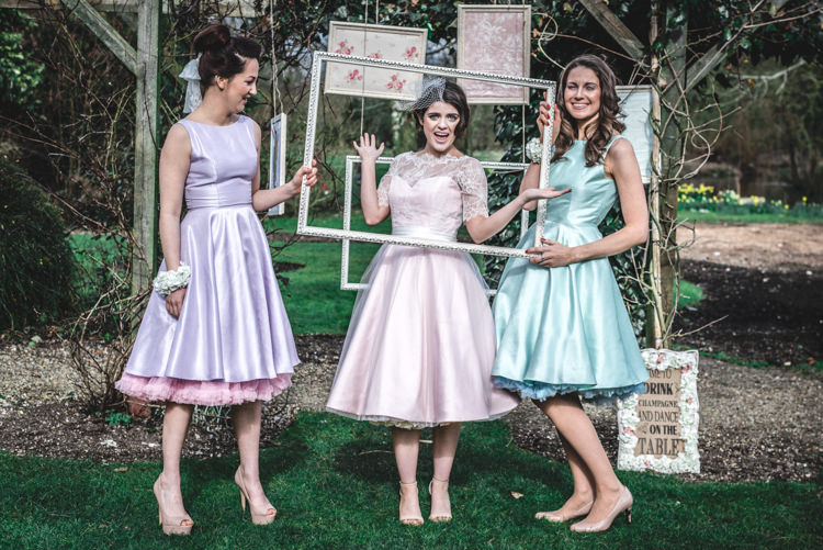 Bridesmaid Dresses Vintage Retro Petticoat Louise Rose Couture  Fun 1950s Pastel Wedding Ideas http://www.bernipalumbo.com/