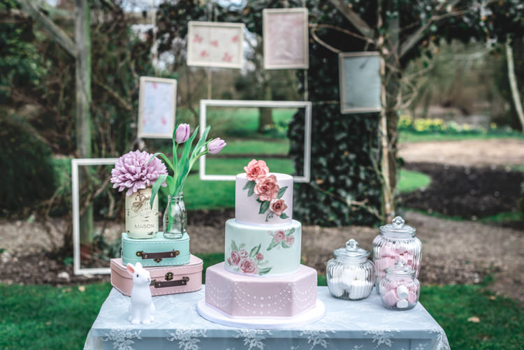 Cake Table Fun 1950s Pastel Wedding Ideas http://www.bernipalumbo.com/