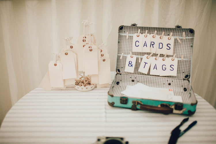 Suitcase Cards Holder Summertime Pastel English Country Garden Wedding http://alipaul.com/