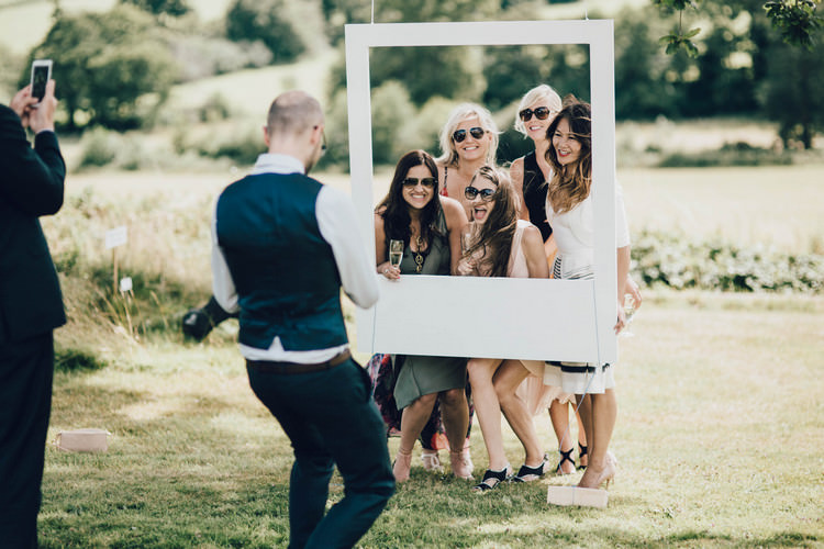 Giant Polariod Photo Booth Summertime Pastel English Country Garden Wedding http://alipaul.com/