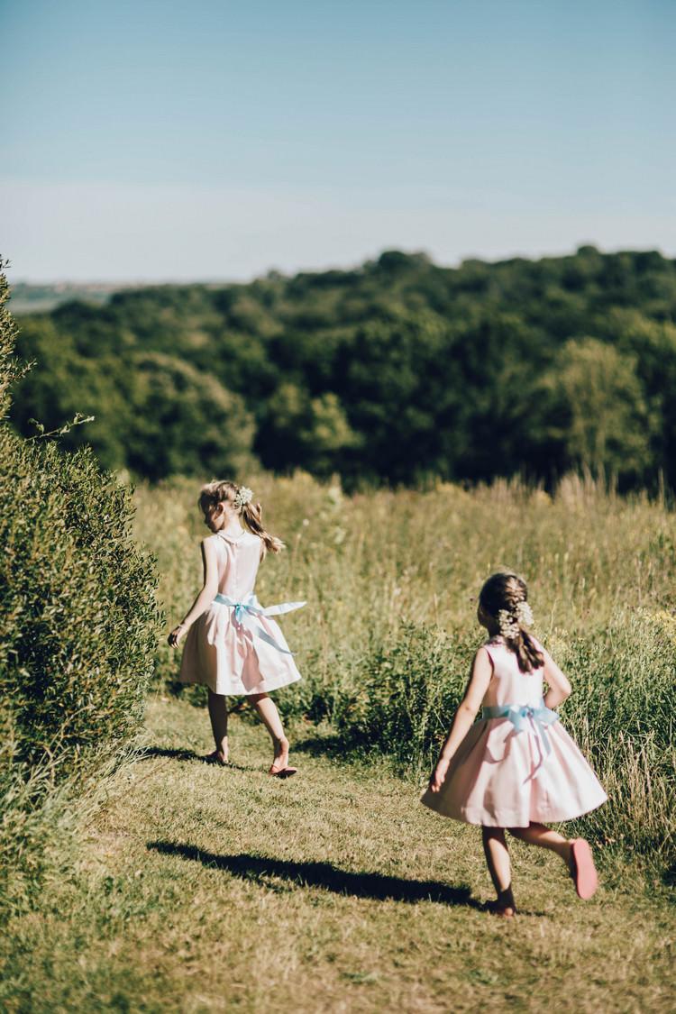 Flower Girls Dresses Pink Blue Summertime Pastel English Country Garden Wedding http://alipaul.com/