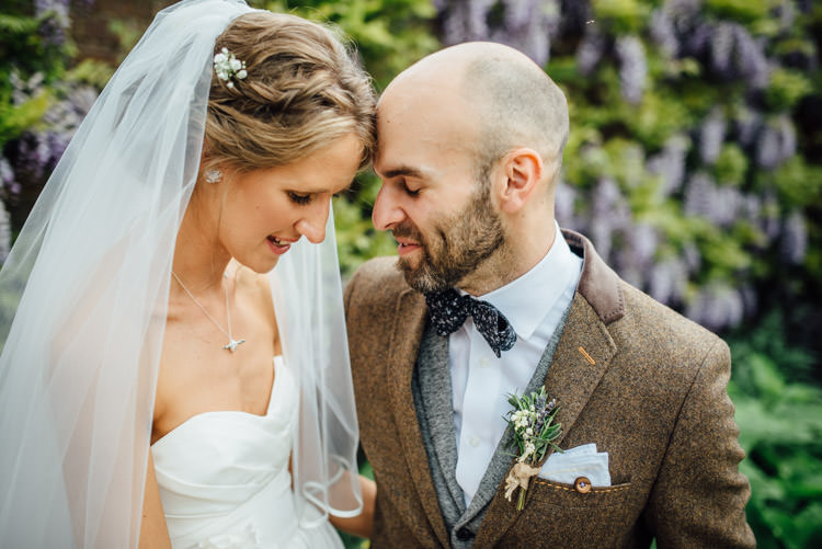 Bow Tie Groom Brown Suit Natural Mismatched Home Made Wedding http://www.mattbrownphotography.co.uk/