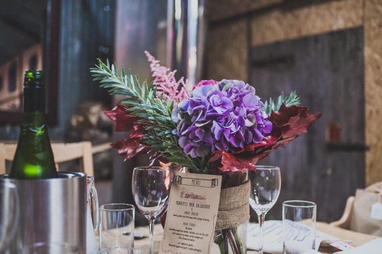 Flowers Jars Hessian Natural Beautiful Autumn Outdoor Wedding http://www.johnelphinstonestirling.com/