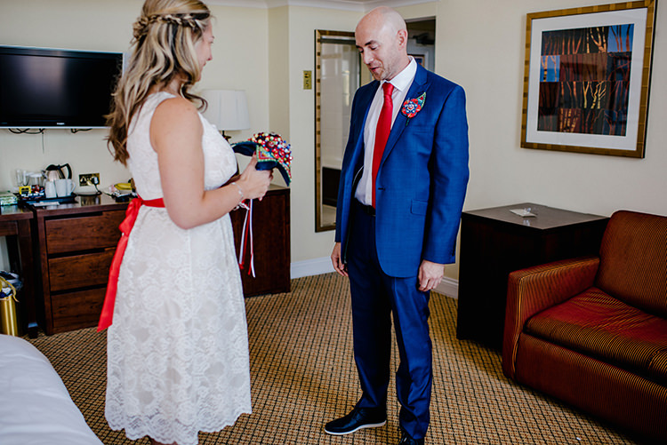 First Look Intimate Red Seaside Brighton Wedding http://www.jmcsweeneyphotography.co.uk/