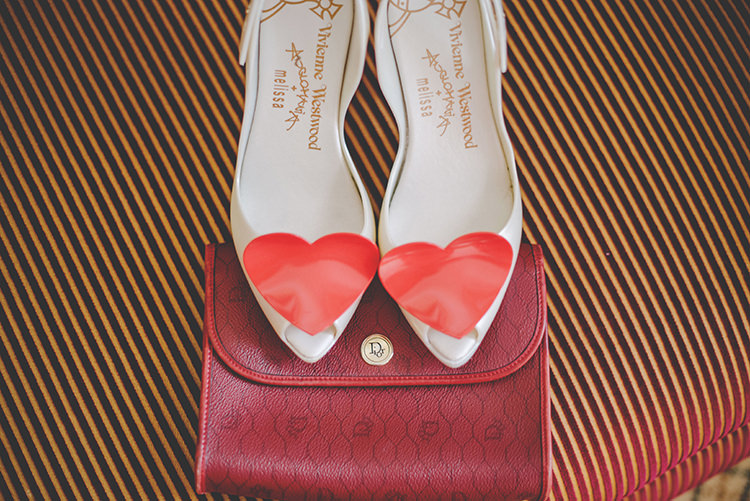 Melissa Red Heart Shoes Bride Bridal Intimate Red Seaside Brighton Wedding http://www.jmcsweeneyphotography.co.uk/