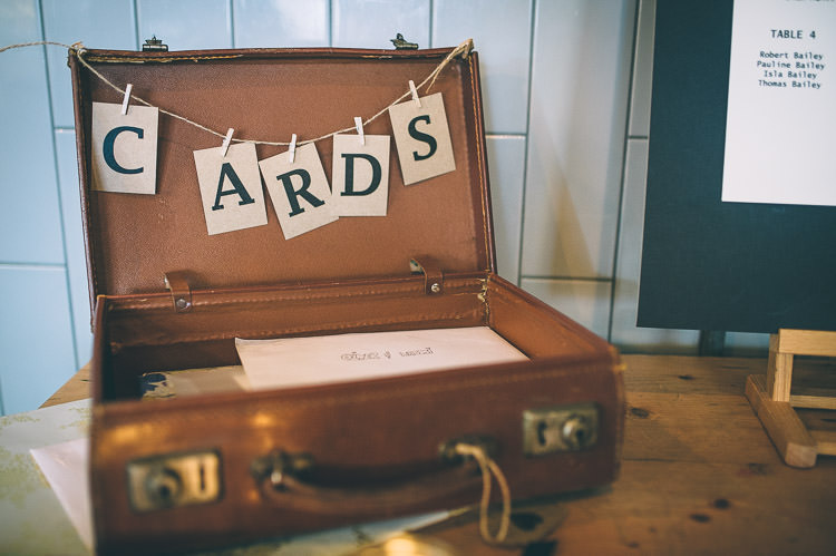 Card Suitcase Colourful Low Key London Wedding http://www.remaininlightphotography.com/