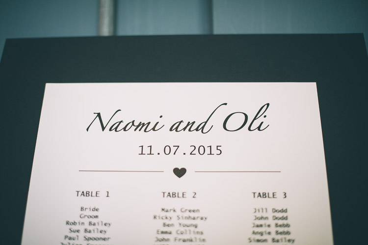 Seating Table Plan Chart Modern Colourful Low Key London Wedding http://www.remaininlightphotography.com/