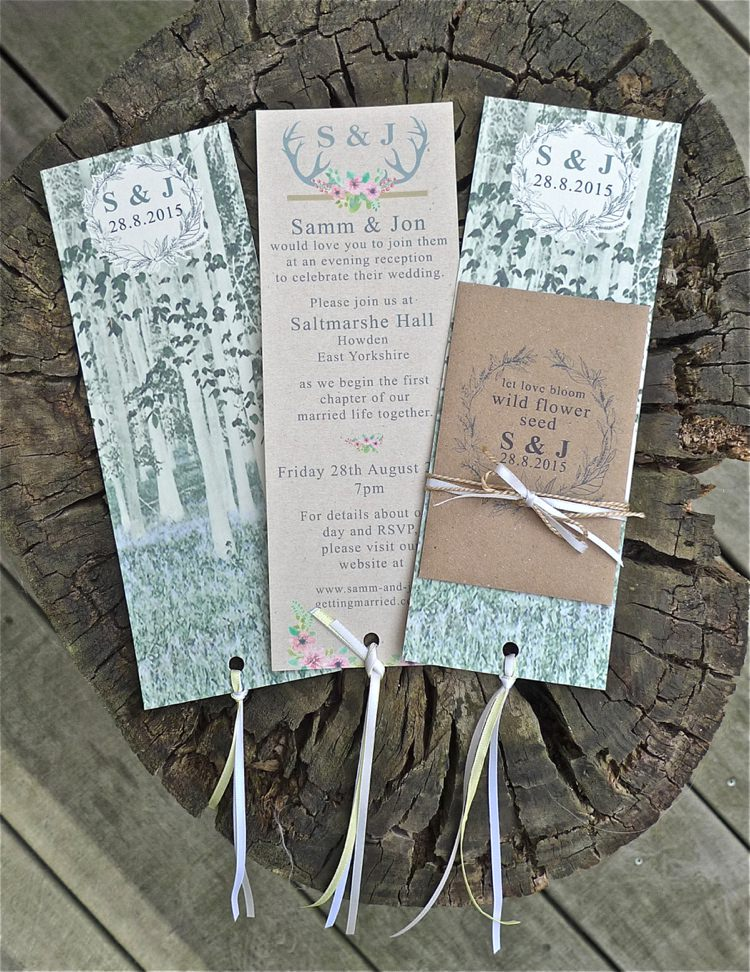 Ethereal Forest Eclectic Fairytale Wedding Stationery Invitations
