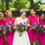 DIY Pink & Gold Glitter Quirky Wedding