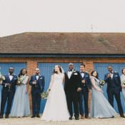 Stylish Meets Rustic Hand Made Winter Wedding