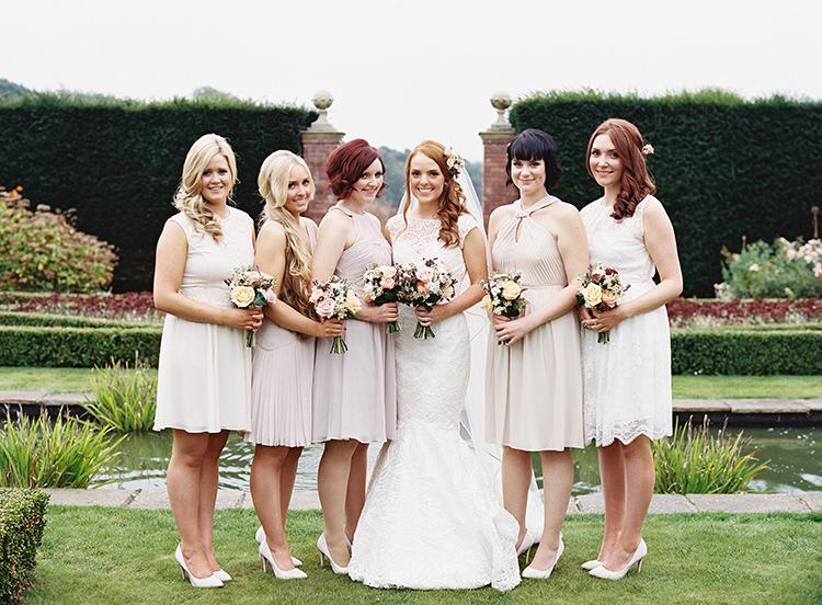 Short Blush Bridesmaids Dresses Mismatched Pretty Floral Wonderland DIY Wedding http://www.victoriaphippsphotography.co.uk/